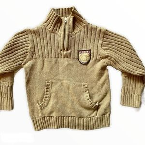 Timberland Boys Knit Cowl Neck Brown Sweater 4